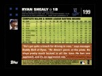 2007 Topps #199  Ryan Shealy  Back Thumbnail