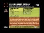 2007 Topps #233   Houston Astros Back Thumbnail