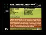 2007 Topps #244   Tampa Bay Devil Rays Back Thumbnail