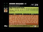 2007 Topps #274  Shawn Riggans  Back Thumbnail