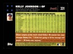 2007 Topps #331  Kelly Johnson  Back Thumbnail