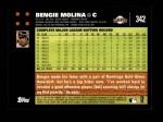 2007 Topps #342  Bengie Molina  Back Thumbnail