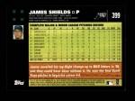 2007 Topps #399  James Shields  Back Thumbnail