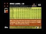 2007 Topps #423  Mike Lamb  Back Thumbnail