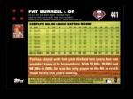 2007 Topps #441  Pat Burrell  Back Thumbnail