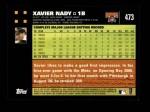 2007 Topps #473  Xavier Nady  Back Thumbnail