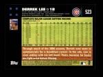 2007 Topps #523  Derrek Lee  Back Thumbnail