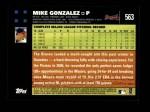 2007 Topps #563  Mike Gonzalez  Back Thumbnail