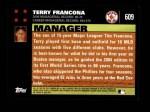 2007 Topps #609  Terry Francona  Back Thumbnail