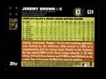 2007 Topps #624  Jeremy Brown  Back Thumbnail