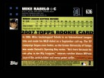 2007 Topps #636  Mike Rabelo  Back Thumbnail