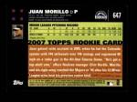 2007 Topps #647  Juan Morillo  Back Thumbnail