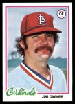 1978 Topps #644  Jim Dwyer  Front Thumbnail