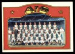 1972 Topps #454   A's Team Front Thumbnail