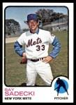 1973 Topps #283  Ray Sadecki  Front Thumbnail