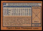 1978 Topps #660  Jason Thompson  Back Thumbnail