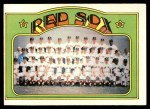 1972 Topps #328   Red Sox Team Front Thumbnail