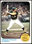 1973 Topps #206   -  Gene Tenace 1972 World Series - Game #4 - Tenace Singles in Ninth Front Thumbnail