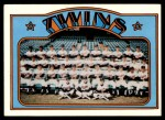 1972 Topps #156   Twins Team Front Thumbnail