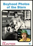 1973 Topps #344   -  Catfish Hunter Boyhood Photo Front Thumbnail