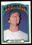 1972 Topps #517  Ken Brett  Front Thumbnail