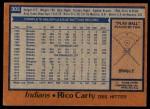 1978 Topps #305  Rico Carty  Back Thumbnail