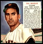 1952 Red Man #14 NL x Sal Maglie  Front Thumbnail
