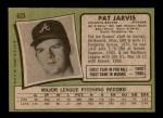 1971 Topps #623  Pat Jarvis  Back Thumbnail