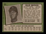 1971 Topps #505  Ollie Brown  Back Thumbnail