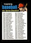 1971 Topps #619 WAV  Checklist 6 Front Thumbnail