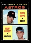 1971 Topps #404   -  Roger Metzger / Buddy Harris Astros Rookies Front Thumbnail