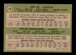 1971 Topps #138   -  Willie Montanez / Joe Lis Phillies Rookies Back Thumbnail
