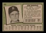 1971 Topps #695  Joe Niekro  Back Thumbnail