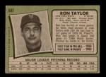 1971 Topps #687  Ron Taylor  Back Thumbnail
