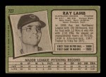 1971 Topps #727  Ray Lamb  Back Thumbnail