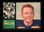 1962 Topps #81  Jim Phillips  Front Thumbnail
