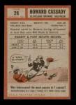 1962 Topps #26  Howard Cassady  Back Thumbnail