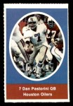 1972 Sunoco Stamps  Dan Pastorini  Front Thumbnail