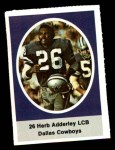 1972 Sunoco Stamps  Herb Adderley  Front Thumbnail