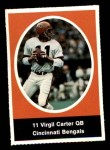 1972 Sunoco Stamps  Virgil Carter  Front Thumbnail