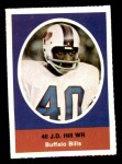 1972 Sunoco Stamps  J.D. Hill  Front Thumbnail