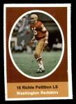 1972 Sunoco Stamps  Richie Petitbon  Front Thumbnail