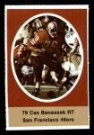 1972 Sunoco Stamps  Cas Banaszek  Front Thumbnail