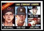 1966 Topps #226   -  Mickey Lolich / Sam McDowell / Denny McLain / Sonny Siebert AL Strikeout Leaders Front Thumbnail