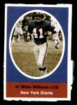 1972 Sunoco Stamps  Willie Williams  Front Thumbnail
