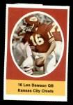 1972 Sunoco Stamps  Len Dawson  Front Thumbnail