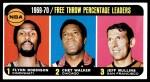 1970 Topps #4   -  Flynn Robinson / Chet Walker / Jeff Mullins Free Throw Pct Leaders Front Thumbnail