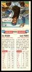 1955 Topps DoubleHeader #67 / 68 -  Jim Hegan / Kack Parks  Back Thumbnail