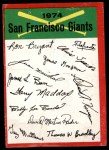 1974 Topps Red Team Checklist   Giants Team Checklist Front Thumbnail