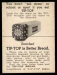 1947 Tip Top Bread  Don Johnson  Back Thumbnail